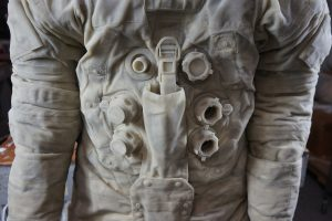 Details of our master model of Neil Armstrong's Apollo 11 spacesuit.